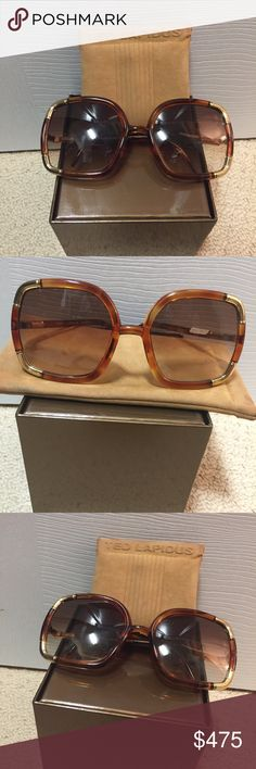 Vintage Ted Lapidus Paris Sunglasses Excellent used condition Vintage Ted Lapidus Paris Sunglasses. Translucent amber & gold frame with spotless amber gradient lenses.  Made in Paris.  Produced and design in 1970's.  Comes with original soft case which has minor wear.  *Box not included Ted Lapidus Paris Accessories Sunglasses