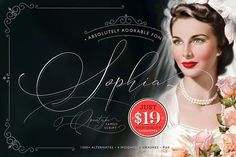Absolutely Adorable Sophia by Blessed Print on @creativemarket