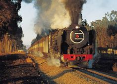 old railroad trains of south africa in photos South African Railways, African Image, Trains, Old Steam Train, Natural Salt, Train Journey, Steam Locomotive, African Safari, Yahoo Images