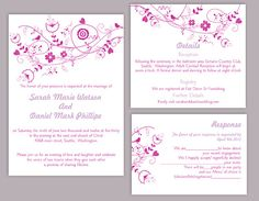 Wedding Invitation Template Download Printable Invitations Navy