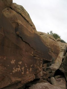 late prehistoric rock art, Arches National Park