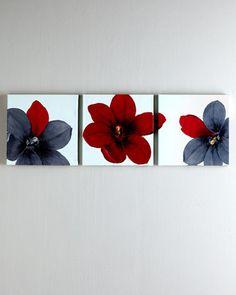 Trio of Tulipia Prints by Rosenbaum Fine Art at Neiman Marcus.