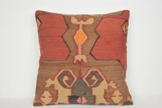 Kilim Cushion Etsy Decoration Modern Whole Nomad Knit Pillow, Wool Pillows, Kilim Cushions, Throw Pillow, Oversized Floor Pillows, Kilim Fabric, Striped Cushions, Rustic Bedding, Aztec Pillows