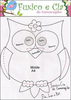 animals - Jewelry World Owl Patterns, Quilt Patterns, Sewing Patterns, Owl Quilt Pattern, Felt Owl Pattern, Owl Sewing, Owl Quilts, Baby Quilts, Drawing Lessons For Kids