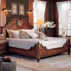 Luxury Bedding Sets On Sale Code: 3907707846 French Furniture, Cheap Furniture, Rustic Furniture, Bedroom Furniture, Furniture Sets, Furniture Design, Bedroom Decor, Furniture Nyc, Furniture Stores