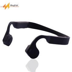 Blog.Fish Wireless Bone Conduction Waterproof Bluetooth Earphone Stereo bluetooth headset wireless Sport Headphones With Mic