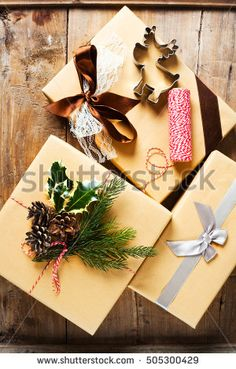 decoration of Christmas gifts