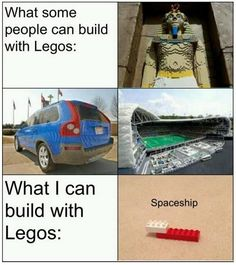 My xander man could probably do this some day. He is so creative with legos. the more creative stuff not the spaceship that is lol