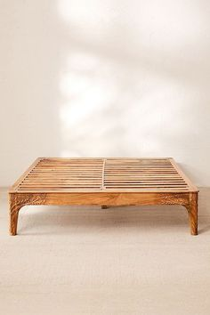 Urban Outfitters Andrea Carved Platform Bed