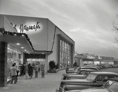"""Toyland and Tots December 1, 1951. """"Shopping center, Great Neck, Long Island, New York. Wanamaker's."""""""