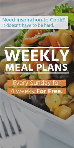Need inspiration to cook? Get a month worth of meal plans to help you for free here!