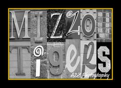 Hey, I found this really awesome Etsy listing at http://www.etsy.com/listing/90153480/missouri-tigers-letter-art-8x10-photo