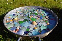 DIY Stepping Stone using an old pan or silicone baking dish