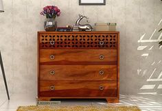 Buy Alexus Chest Of Drawer (Honey Finish) online at best prices from Wooden Street. Shop for a wide range of terrific collection of bedroom cabinets online with great deals and offers. Visit : https://www.woodenstreet.com/bedroom-cabinets