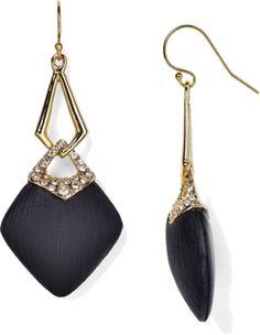 Alexis Bittar Lucite Swarovski Crystal Infinity Link Earrings - Polyvore