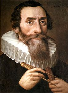 Johannes Kepler (1571-1630). He proved that the motion of planets was elliptical, in Mysterium Cosmographicum