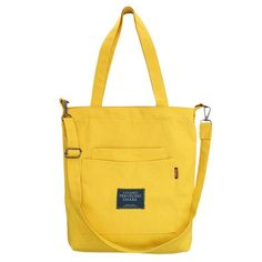 Coofit Simple Casual Canvas Bag For Women Ladies Tote Handbag Shoulder  Crossbody Bags Multipocket Top Handle Shopper Bag bolsas 30173f1dfb996