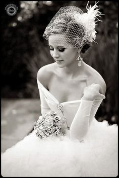 Stunning wedding dress - love this off the shoulder/old time glamour look