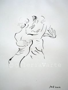 Original ink drawing 2014 x Dance. Canson paper, Antifungal and antibacterial, m², Acid-Free, ph neutral. Carefully packed for safe shipping. The author keep the right to graphic Dancer Tattoo, Tango Art, Love Dance, Figure Drawing Reference, Sketches, Fine Art, Drawings, Artwork, Balerina