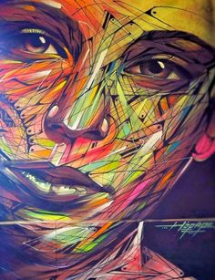 New graffiti mural by Hopare in Limours, France.