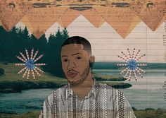 LUCAS EME A Frank Ocean. Mixed Media.