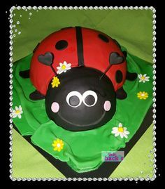 Ladybird cake fondant schoko marienkäfertorte