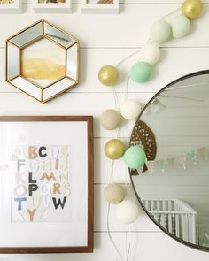 Adding just a touch of gold and mint takes this boho nursery up a style notch!
