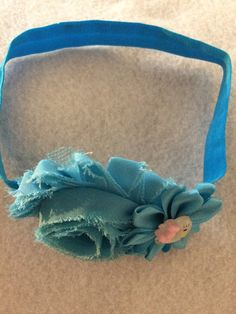 Blue Head Band with Hello Kitty by HelgasHairBowDesigns on Etsy