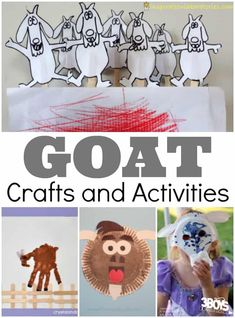 Goat Crafts and Activities for Kids Farm Animal Crafts, Animal Crafts For Kids, Toddler Crafts, Animals For Kids, Preschool Crafts, Farm Animals, Animal Activities For Kids, Farm Activities, Kindergarten Activities