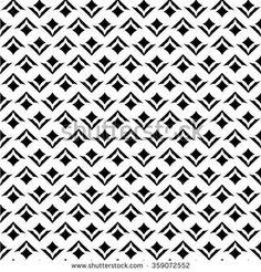 Black and white style pattern. Geometric Patterns, White Patterns, Fabric Patterns, Print Patterns, Design Patterns, Black And White Design, Black White, Surface Pattern Design, Pattern Art