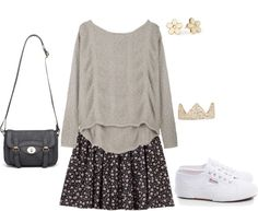 """""""inspired with a floral skirt"""" by hayleycarbran ❤ liked on Polyvore"""