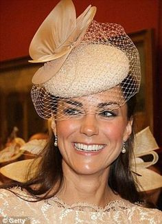 Kate at the Jubilee celebrations in the same Jane Taylor cocktail hat