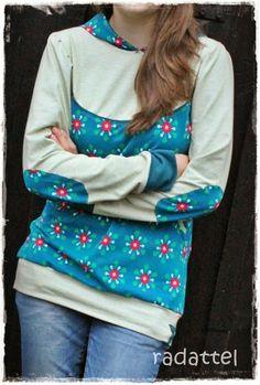 Lady Bella von Mialuna als Sweater genäht von Radattel