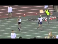 Two guys in their 90s racing the 100 meter dash!