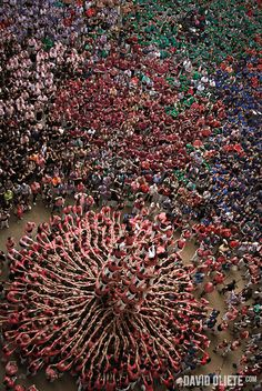 Concurs de Castells 34 (the human tower competition held in the region of Catalonia, Spain) by David Oliete, Tarraco Arena Plaça, Tarragona