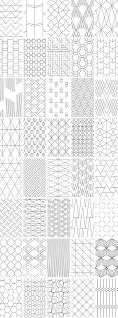 Simple Line Geometric Patterns - Design Cuts Geometric Patterns, Geometric Shapes Art, Simple Geometric Pattern, Geometric Lines, Line Patterns, Simple Geometric Designs, Diy Embroidery Patterns, Geometric Embroidery, Zentangle Patterns