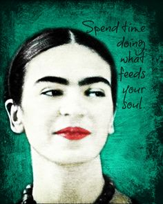 Frida Kahlo Painting Effect inspirational print available at www.artdecadence.etsy.com