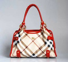 Burberry Bags Beige Grid Red_Ii Discount-152