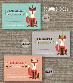 Fox Woodland Party Invitation for kids party, 1st 2nd 3rd 4th 5th birthday, boy or girl - jpeg or pdf printable. $13.60, via Etsy.