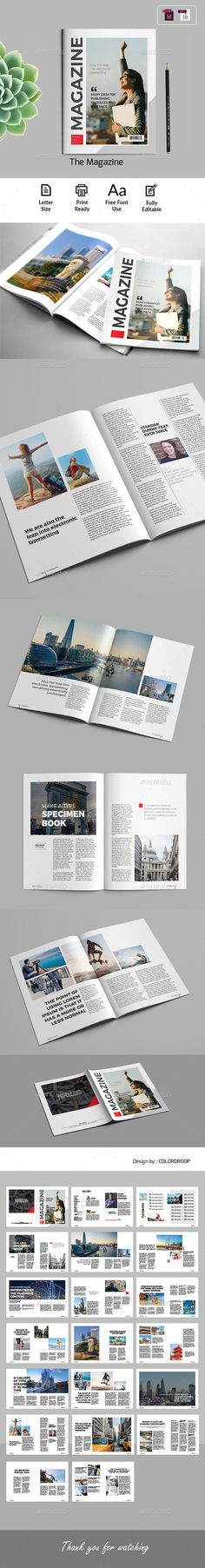 The Magazine Template — InDesign INDD #modern publications #adventure • Download ➝ https://graphicriver.net/item/the-magazine-template/21382731?ref=pxcr