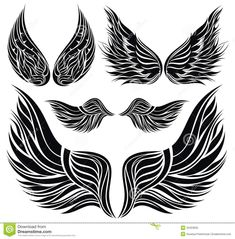 cross designs with wings to draw - Google Search
