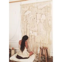 In the studio... neutral colors and rich textures   modern, macrame & weaving