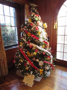 Celebrating the holidays at Glenview Mansion-Tree decorated by Croydon Creek Nature Center