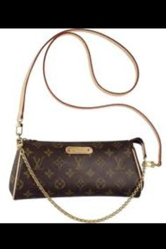 5b9fab92261 Discover Louis Vuitton Eva Clutch  The short golden shoulder chain of the  Eva is perfect for evening use