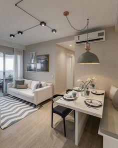 Condo Design, Home Room Design, Dining Room Design, Interior Design Living Room, Design Salon, Design Design, Small Apartment Interior, Condo Interior, Apartment Design