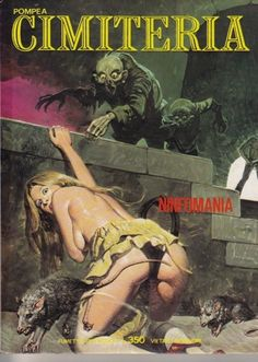 Italian pulp cover Cimiteria (WANTED) by Biffignandi Comic Art