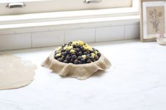 Lemon Verbena and Blueberry Pie