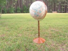 VINTAGE WORLD GLOBE, Globe On Stand, Repogle World Globe, World Map, Interior Design, office decor by KarensChicNShabby on Etsy