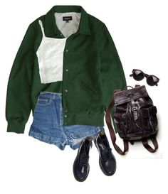 """lake"" by junk-food ❤ liked on Polyvore featuring Brixton, American Apparel, Free People and Dr. Martens"