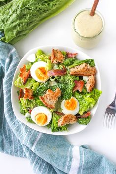 Easy Caesar Salad Dressing - paleo with a dairy free option